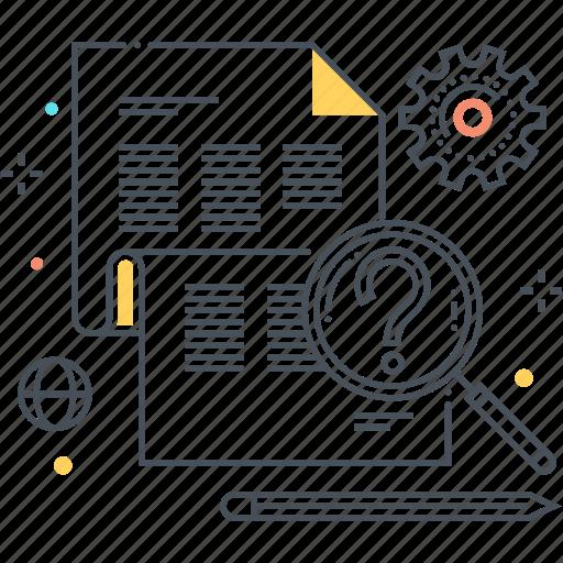 find, general knowledge, idea, read, search, tutorial icon