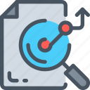 analysis, bar, business icon, chart, magnifier, statistics icon