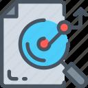 analysis, bar, business icon, chart, magnifier, statistics