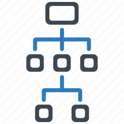 diagram, hierarchy, marketing, structure icon