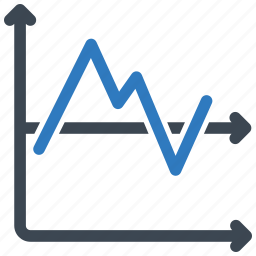 analytics, chart, graph, line icon