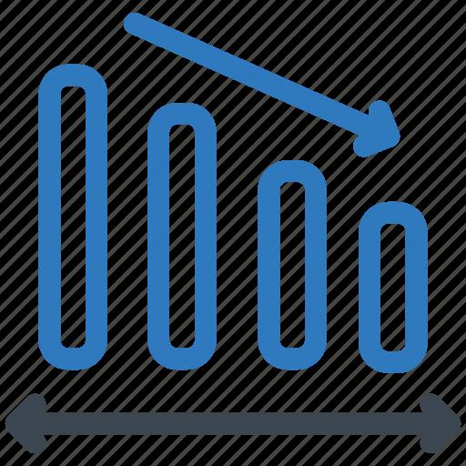 analytics, decrease, loss icon