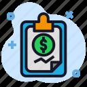 business, chart, clipboard, economics, money, stats icon
