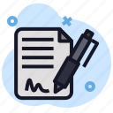 aggreement, business, contract, economics, file, mou, signature icon