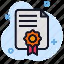 award, business, certificate, economics, file, reward icon