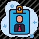 business, card, economics, id, nametag icon