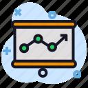 business, chart, economics, presentation, stats icon