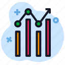 business, chart, economics, infographics, stats icon