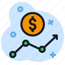 business, chart, dollar, economics, growth, money, stats icon
