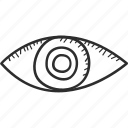 search, eye, business, marketing, imagination, drawing, vision icon