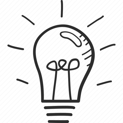 business, drawing, idea, imagination, knowledge, light bulb, vision icon