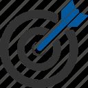 aim, goal, motive, object, plan, success, target icon