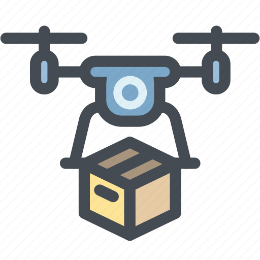 business, delivery, drone, drone delivery, logistics, package, transport icon