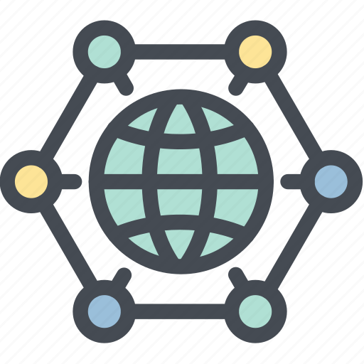 business, global solution, globe, logistics, planet, sync, synchronization icon