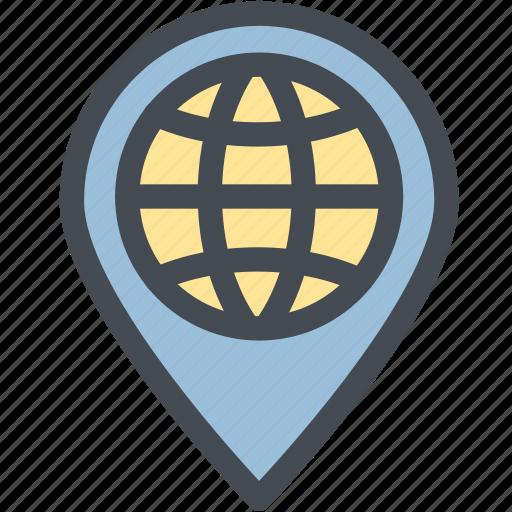 address, business, destination, globe, location, logistic, logistics icon