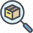 business, delivery, find, logistics, search, search product icon