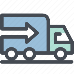 business, delivery, export, logistic delivery, logistics, transportation, truck icon