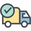 business, logistic, logistics, order confirm, shipping, transport, truck icon