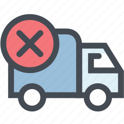 business, cancel delivery, logistic, logistics, order cancel, shipping, transport icon