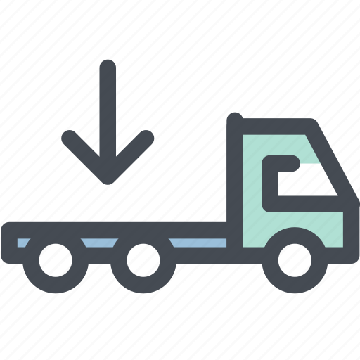 delivery truck, flatbed, flatbed truck, logistic delivery, logistics, transportation, truck icon
