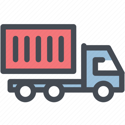 container, delivery, logistic delivery, logistics, transport, truck, vehicle icon