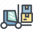 business, delivery, loader, loading, logistics, shipment, shipping icon