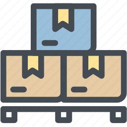 box, delivery, logistic delivery, logistics, pallet, storage, warehouse icon