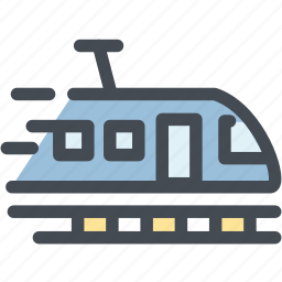 logistics, rail, track, train, train station, tram, transportation icon