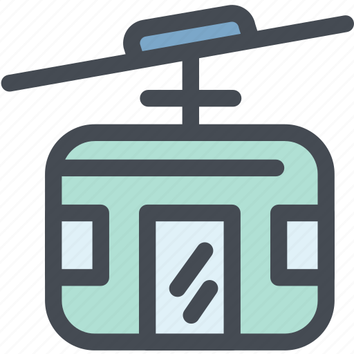 business, cable car, logistics, public transportation, rope, streetcar, tramway icon