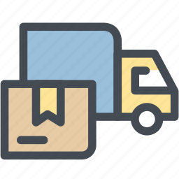 delivery truck, delivery van, fast delivery, logistic delivery, logistics, package delivery, transportation icon