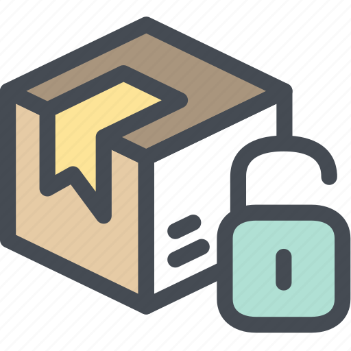 box, business, cardboard packaging, delivery, logistics, package unlocked, packaging icon