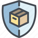 business, delivery, logistics, package, protected, secure, shipping icon