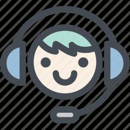 business, call center, customer service, logistics, operator, receptionist, support icon