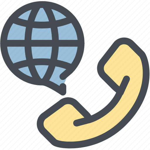 business, call, contact, logistics, overseas calls, phone, world conversation icon