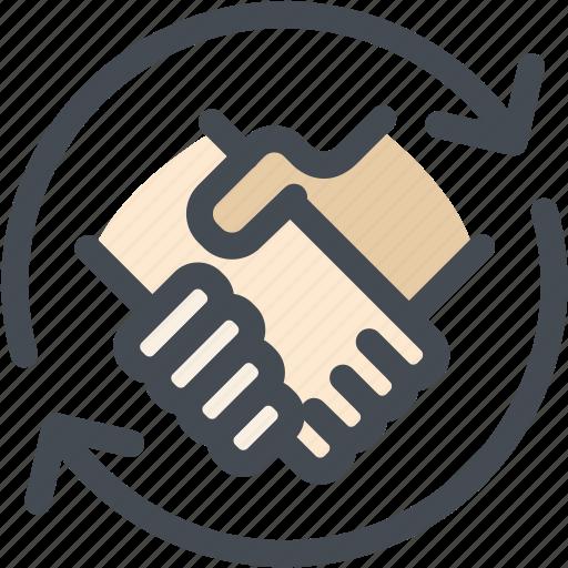 agreement, business, hands, handshake, logistics, shaking icon
