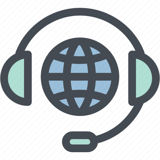 business, call center, customer service, international, logistics, operator, receptionist icon