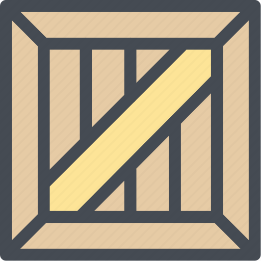 business, crate, ecommerce, logistic, logistics, packaging, wood packaging icon