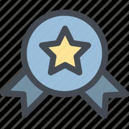 award, business, logistics, medal, star, star medal, win icon