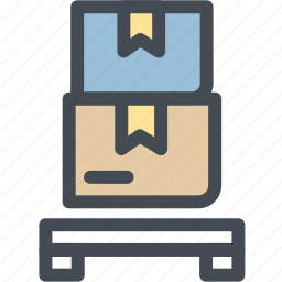 boxes, business, delivery, logistics, packages, pallet, shipping icon