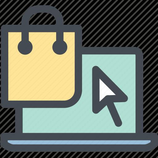 bag, business, computer, shop, shopping, web, web shopping icon