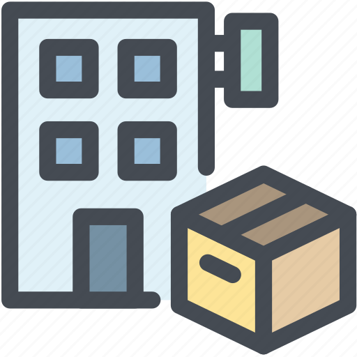 building, business, logistics, office, package, post office, product icon