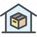 box, business, delivery, home, home delivery, logistics, shipping icon