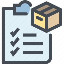 business, check, clipboard, list, logistics, office, write icon