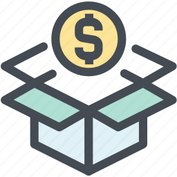 box, business, delivery, dollar, logistic, logistics, package icon
