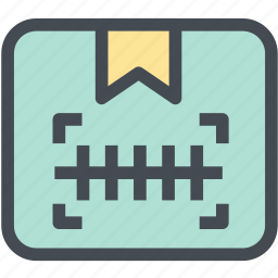 barcode, barcode scanner, box, business, logistics, package, scan icon