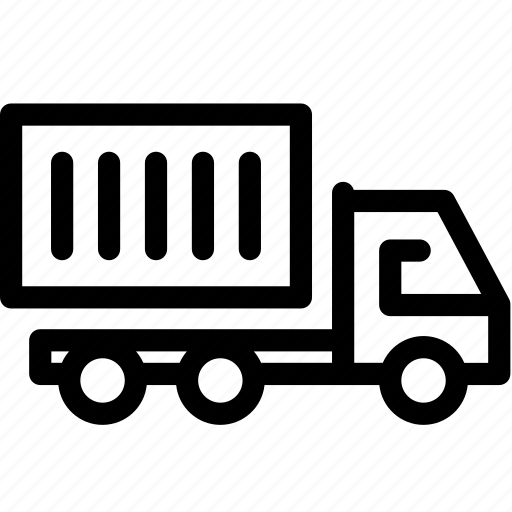business, container, delivery, logistics, transport, truck, vehicle icon