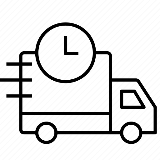 delivery truck, delivery van, fast delivery, logistic delivery, package delivery, transportation icon icon