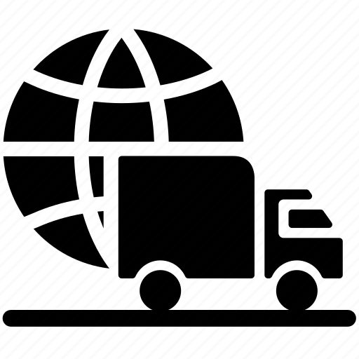delivery truck, delivery van, logistic delivery, logistics, lorry, transport, transportation icon