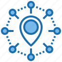 business, ecosystem, hardware, innovative, network, place, system icon