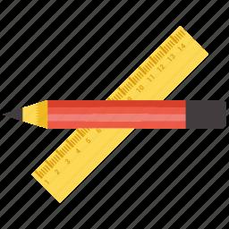 design, element, measure, pencil, tool icon